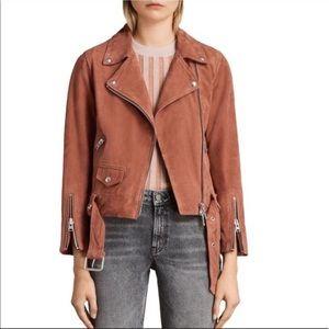 Suede Cole Biker Jacket - Rose Pink